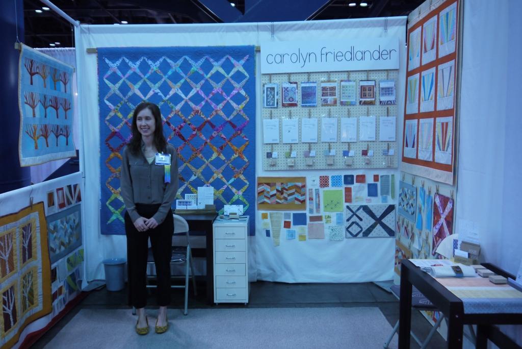 carolyn friedlander, Fall Quilt Market 2012, quilt pattern designer